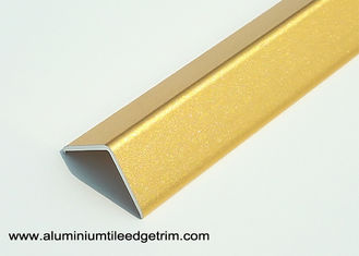 Bright Golden 2cm Aluminum Corner Guards With Sand Blasting Effect 2.7m Length