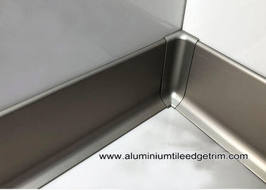 Modern Euro 60mm / 80mm / 100mm Aluminium Skirting Board For Home / Hotel